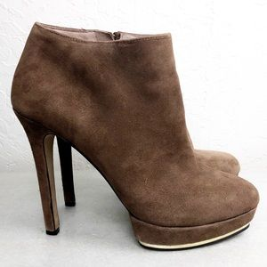 Vince Camuto suede Dira ankle bootie with side zip
